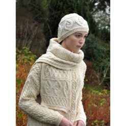 Natural Diamond Knit Scarf
