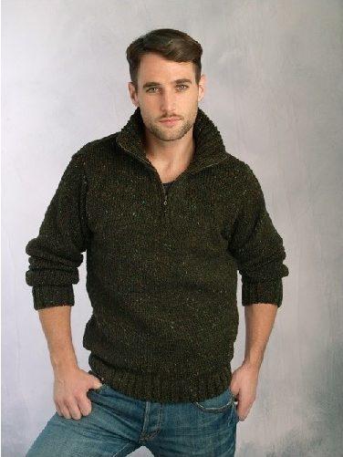 Half Zip Donegal Sweater