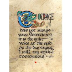 Courage Illuminated Framed Print