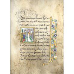 First Corinthians Illuminated Framed Print