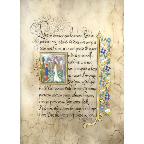 First Corinthians Illuminated Framed Print