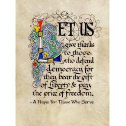 Service Prayer Illuminated Framed Print
