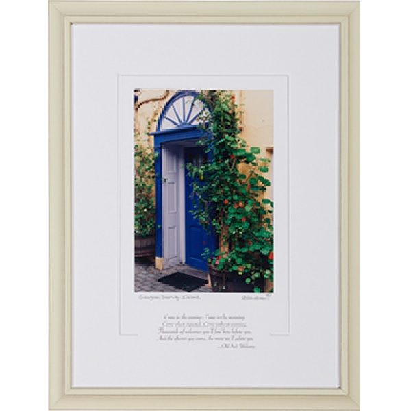 Georgian Doorway Framed Blessing
