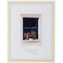 Cottage Window Framed Blessing
