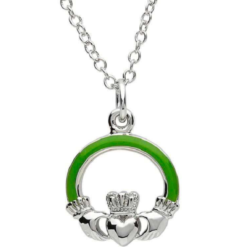 Green Claddagh Necklace