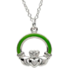 Large Green Claddagh Necklace