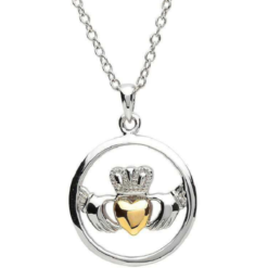 Claddagh Circle Necklace