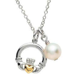 Pearl Claddagh Necklace