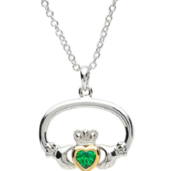 Oval Claddagh Necklace