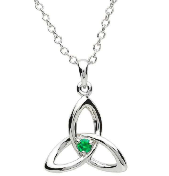 Green Gem Trinity Necklace