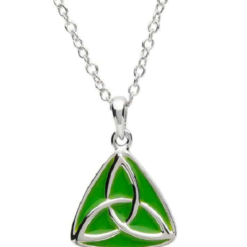 Enamel Trinity Necklace
