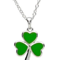 Enamel Shamrock Necklace