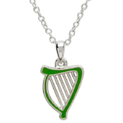 Enamel Harp Necklace