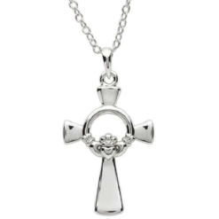 Large Claddagh Cross Necklace