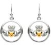 Claddagh Circle Earrings