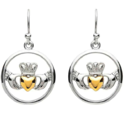 Claddagh Circle Earrings