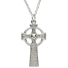 Large Woven Celtic Cross Necklace