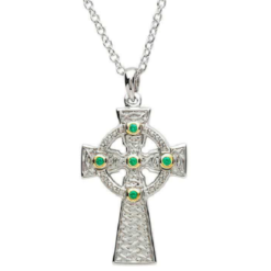 Stone Set Celtic Cross Necklace