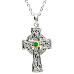 Two Tone Celtic Cross Necklace