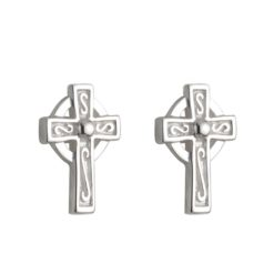 Celtic Cross Stud Earring
