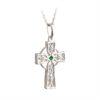 Em/CZ Celtic Cross Pendant