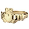 Gents Heavy Gold Claddagh Ring