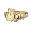 Ladies Classic Gold Claddagh Ring