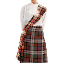 Modeled Sash - Sash Highlighted for Demo Tartan Scottish Sash Weddings