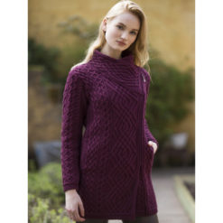 Long Side Zip Sweater Cranberry