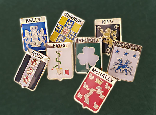Family Crest Lapel Pins