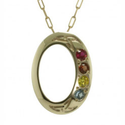 Family Colours Four Stones Oval Gold