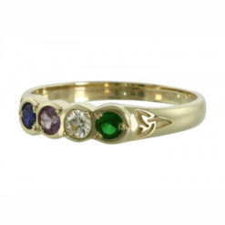 Family Colours Four Stones Ring Gold
