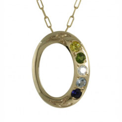 Family Colours Five Stones Oval Gold