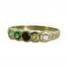 Family Colours Five Stones Ring Gold