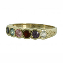Family Colours Six Stones Ring Gold
