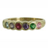 Family Colours Seven Stones Ring Gold