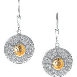 Celtic Warrior Sterling Silver w 18k Bead Small / Medium Earrings