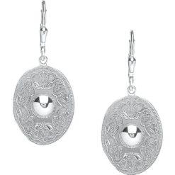 Celtic Warrior Sterling Silver Oval Earringss