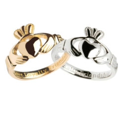 Ladies Claddagh Solid Gold and Sterling Silver Options