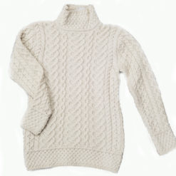 Mock Turtleneck Sweater Irish Sweater Merino Wool Irish Traditions