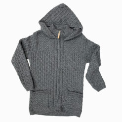Gents Men's Hooded Jacket Knit Zipper