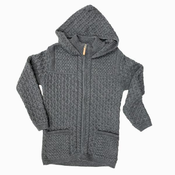 Gents Men's Hooded Jacket Knit Zipper