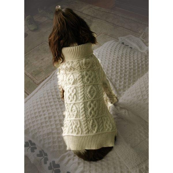 Aran Knit Merino Dog Sweater Top