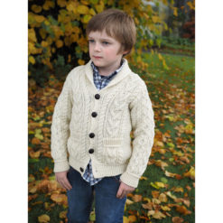Boy's Shawl Cardigan Irish Sweater