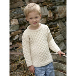 Child's Merino Crew Sweater Wool Irish Kids