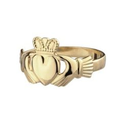 Ladies Traditional Light Weight Yellow Gold Claddagh 10k