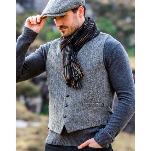 Tweed Waistcoat Muckros Wool Gray 1