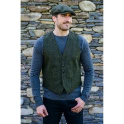 Green 27 Waistcoat Tweed Muckros