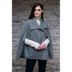Kenmare Cape Gray Tweed