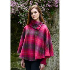Pinks Tweed Poncho